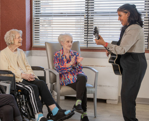 Entertainment and engaging activities for long term skilled care guests