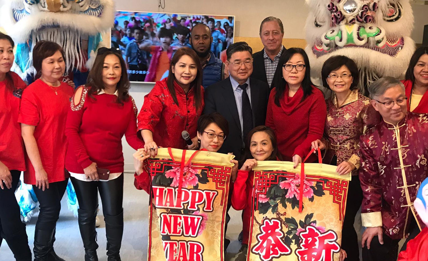 Part of the group of 45-50 entertainers celebrating Chinese New Year's at LICC