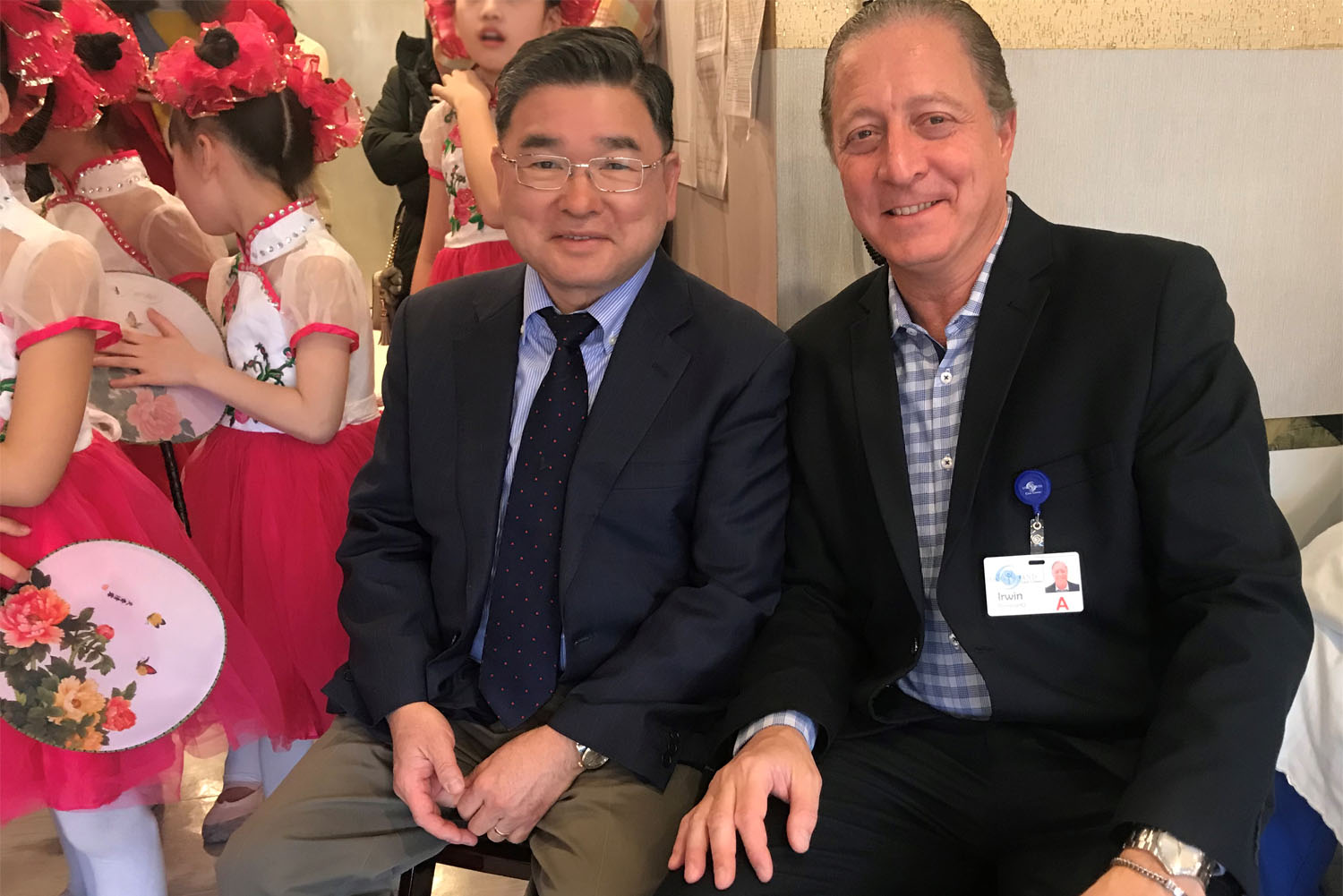 Councilman Peter Koo and LICC's Administrator Irwin Pomerantz at the Chinese New Year Celebration at LICC