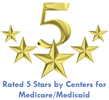 5 Star rating by Center for Medicare/Medicaid